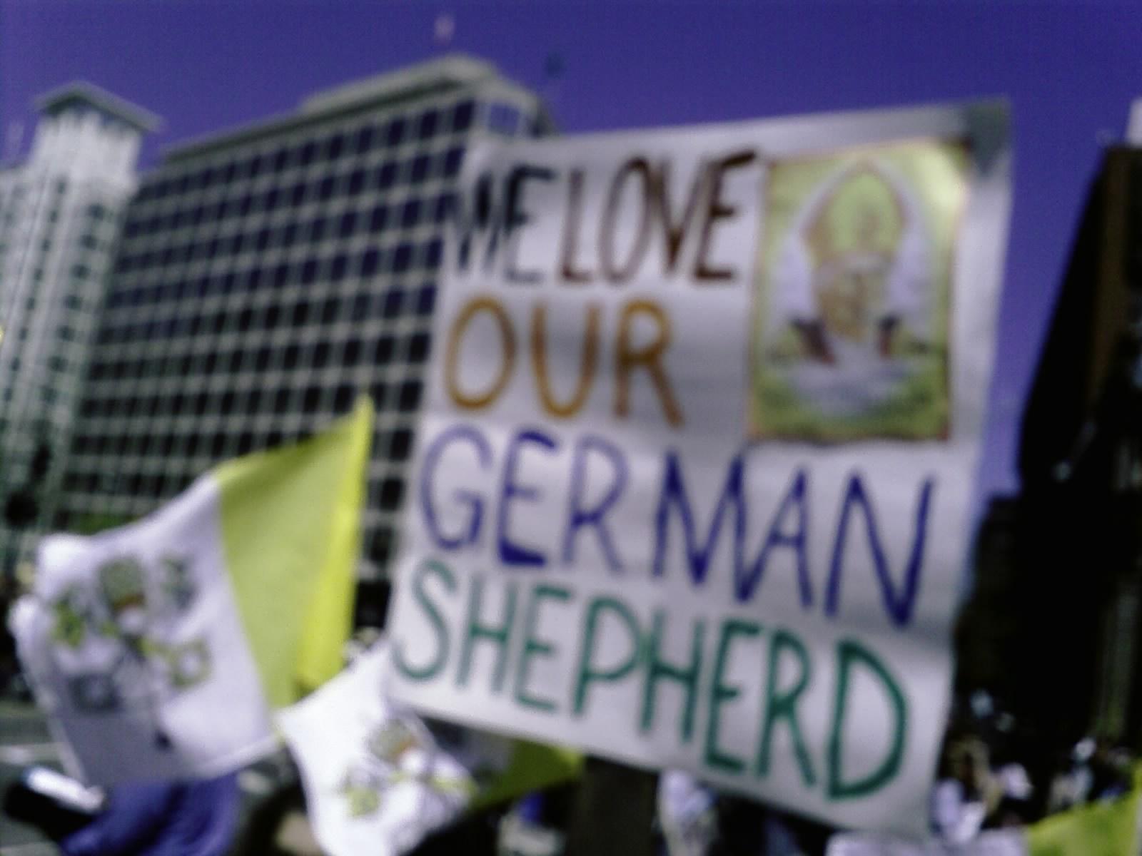 We Love Our German Shepherd